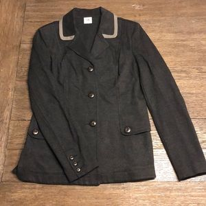 CAbi Jackets & Coats - CAbi Grey Knit Ponte Blazer. Style 3030. Size S.